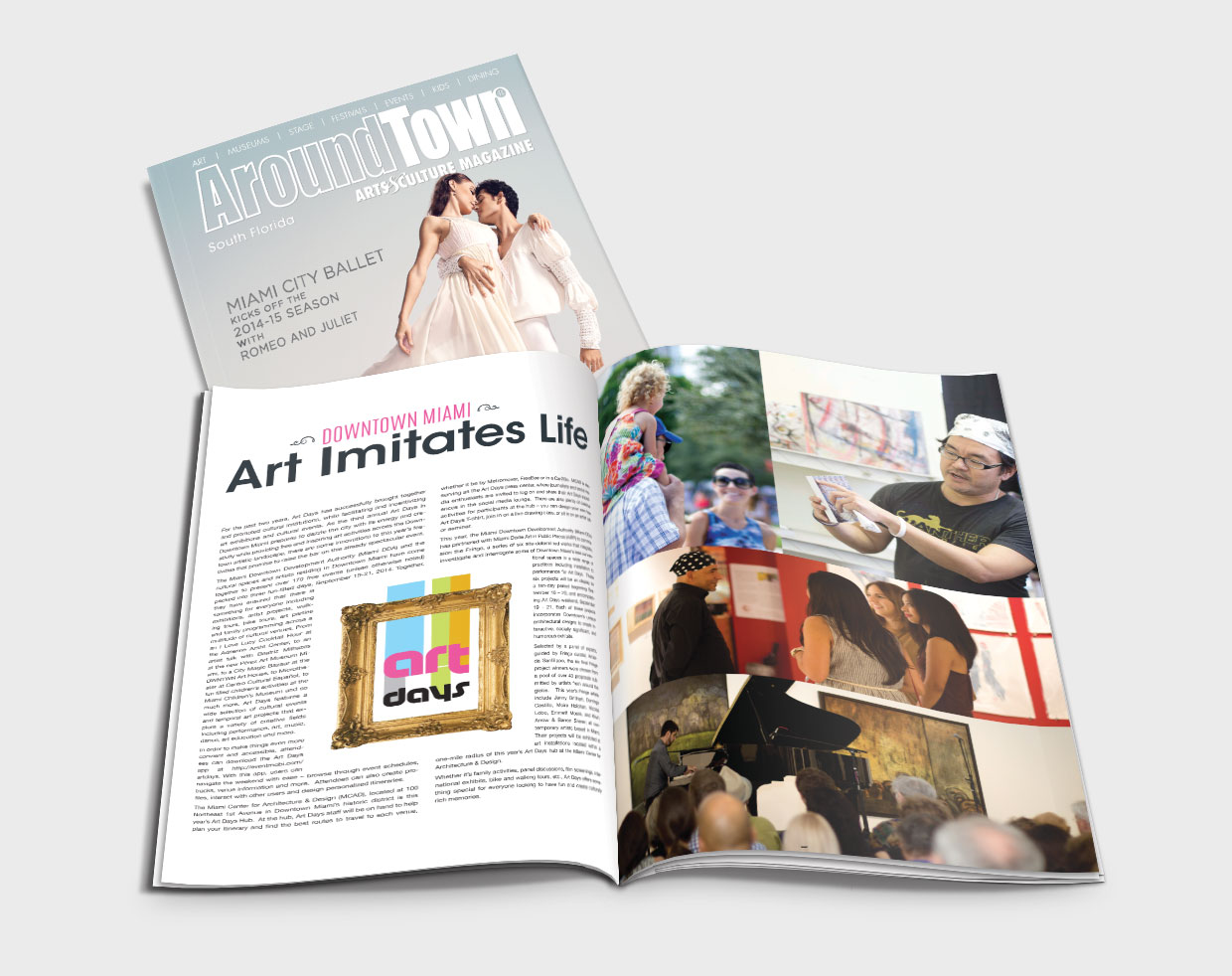 aroundtown magazine web design