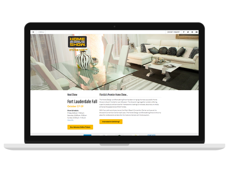 Web design and online marketing for the home design and for Home design and remodeling show