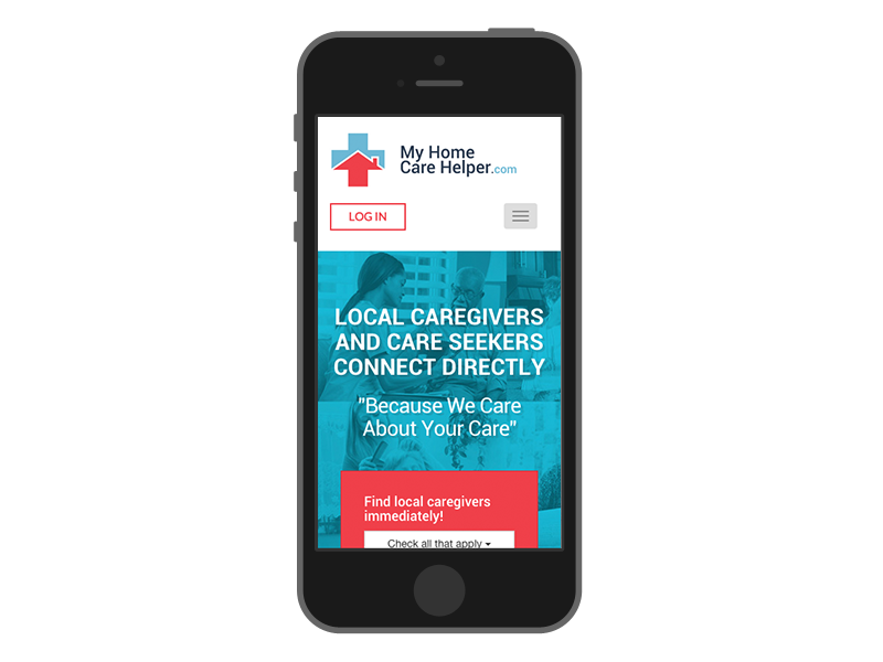 responsive web design my home care helper