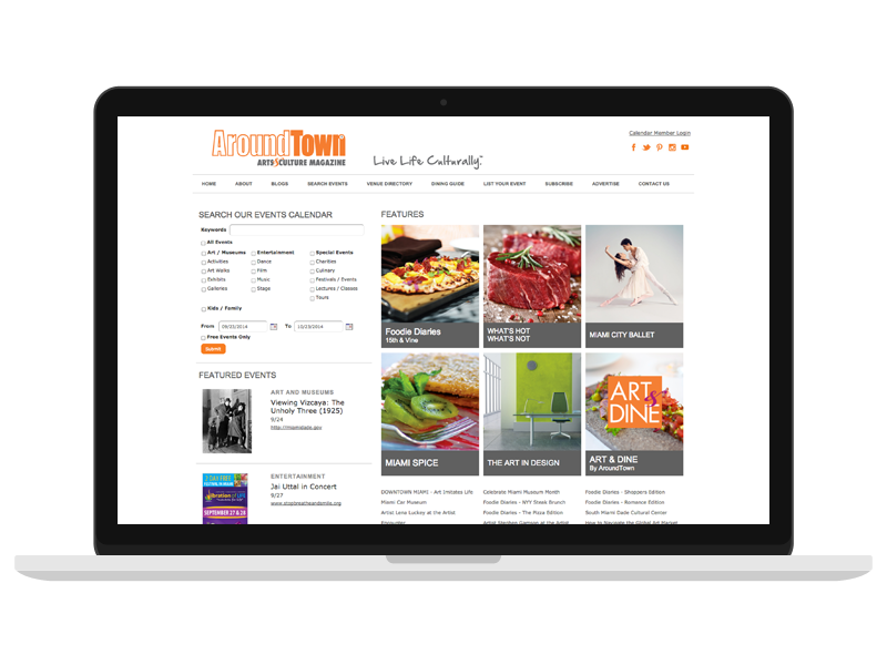 web design aroundtown magazine